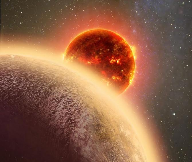 적색왜성 주위를 공전하는 지구형 행성 'GJ1132b'의 상상도. - NASA, Dana Berry, SkyWorks 제공